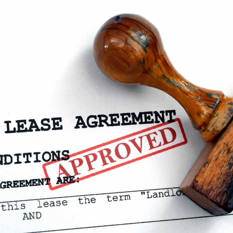 An approved Lease Agreement