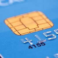 Close-up of a credit card.