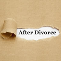 Butcher paper slightly ripped to reveal words After Divorce